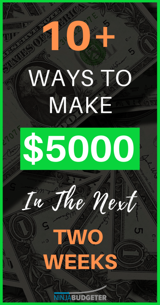 make $5000 fast, How To Make $5000 Fast in 2020 (Within The Next Couple Of Weeks)